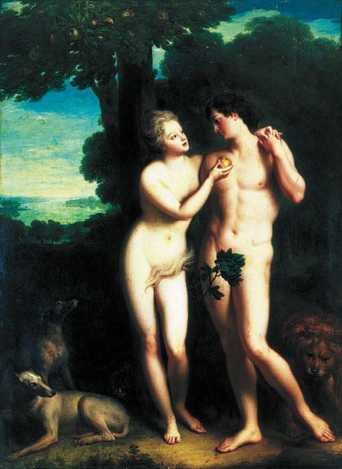 Jean-Baptiste Santerre: Adam et Eve au milieu du paradis terrestre