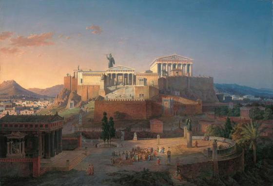 Leo von Klenze: Ideal View of the Acropolis and Areus Pagus in Athens