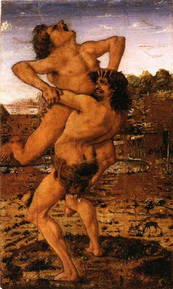 Antonio Pollaiuolo: Hercules Slaying Antaeus, c. 1478