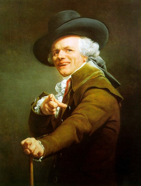 Joseph Ducreux: Self-Portrait in a Mocking Pose