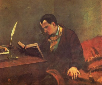 Portrait of Charles Baudelaire by Gustave Courbet