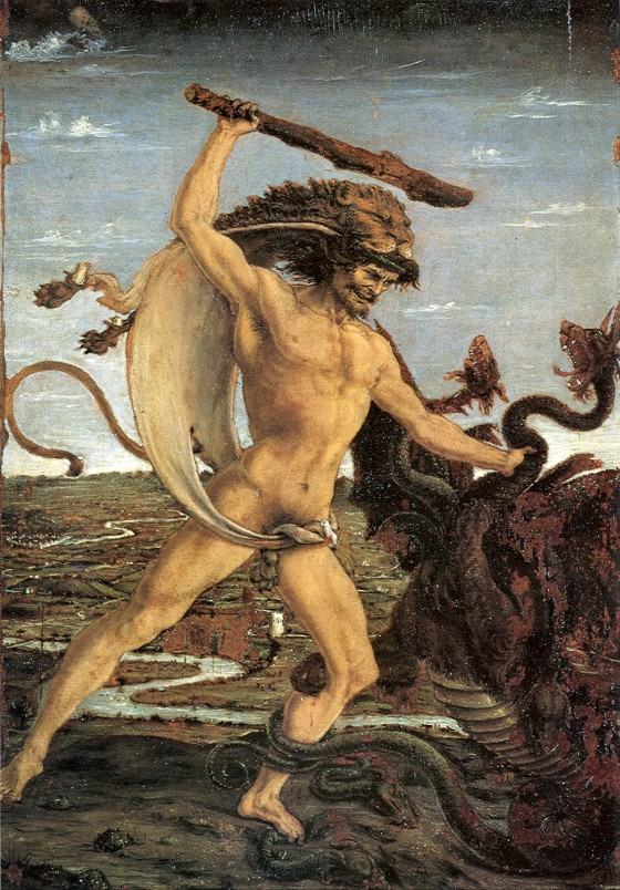 Antonio Pollaiuolo: Hercules Slaying the Hydra, c. 1475