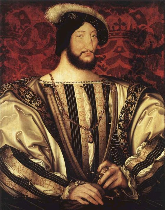 Portrait of Francis I of France by Jean Clouet