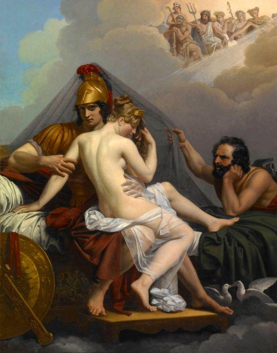 Alexandre Charles Guillemot: Mars and Venus Surprised by Vulcan