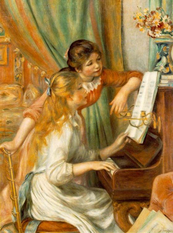 Pierre-Auguste Renoir: Young Girls at the Piano, c.1892