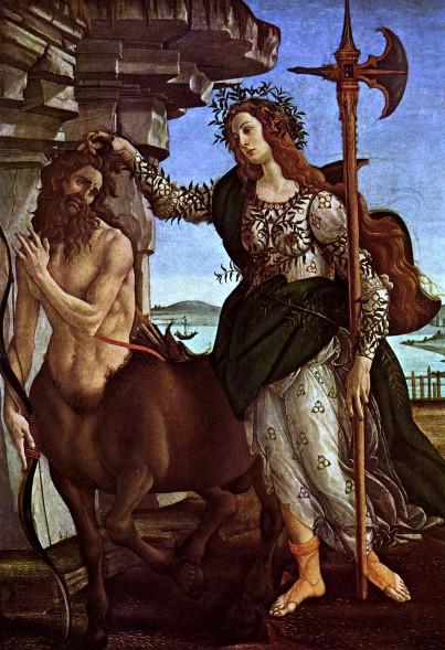 Sandro Botticelli: Pallas and Centaur, c. 1482