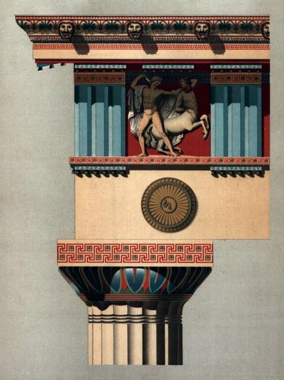 Kunsthistorische Bilderbogen: Antique Polychromy, Doric Order