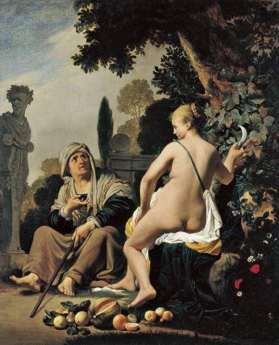 Caesar van Everdingen: Vertumnus and Pomona, c. 1637–40