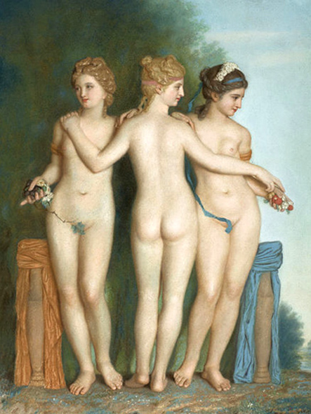 Jean-Étienne Liotard: The Three Graces (1737)