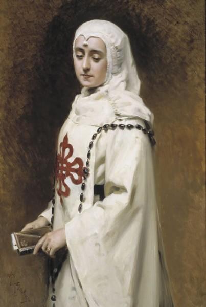 Raimundo Madrazo: The Actress María Guerrero as Doña Inés, c. 1891