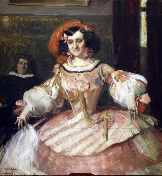 Joaquín Sorolla: The Actress María Guerrero as Finea, c. 1897/1906