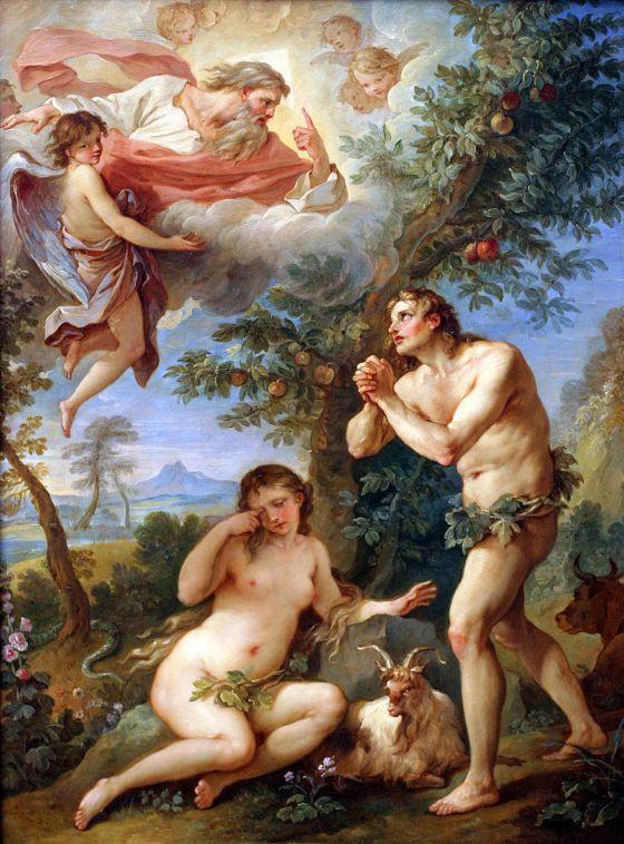 Charles-Joseph Natoire: The Expulsion from Paradise (1740)