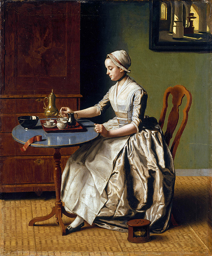 Jean-Etienne Liotard: A Lady pouring Chocolate, 1744