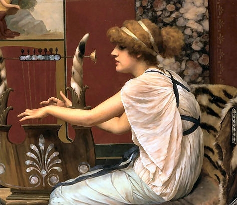 John William Godward - Page 3 John-william-godward-erato-at-her-lyre