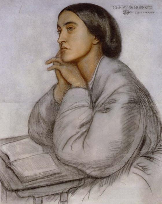 Portrait of Christina Rossetti by Dante Gabriel Rossetti 1866