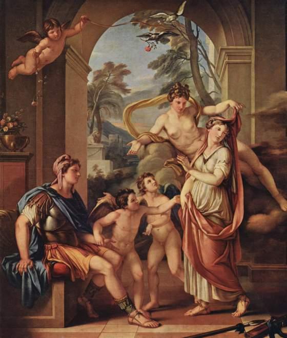 Gavin Hamilton: Venus giving Helen to Paris as his wife, 1782-84