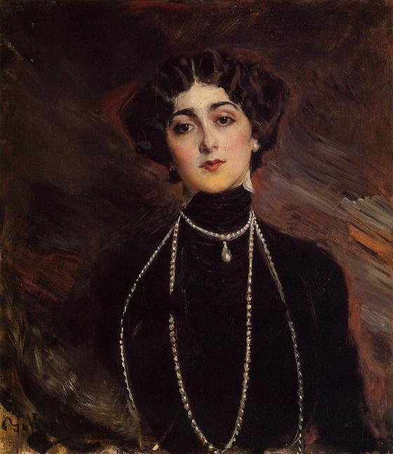 Portrait of Lina Cavalieri by Giovanni Boldini