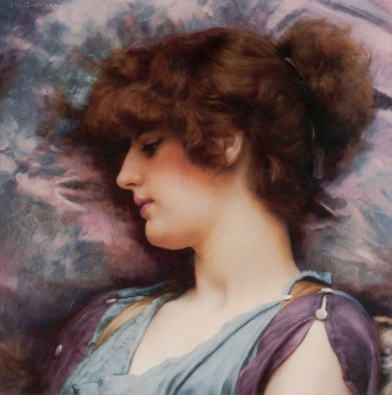 John William Godward: Faraway Thoughts (1892)