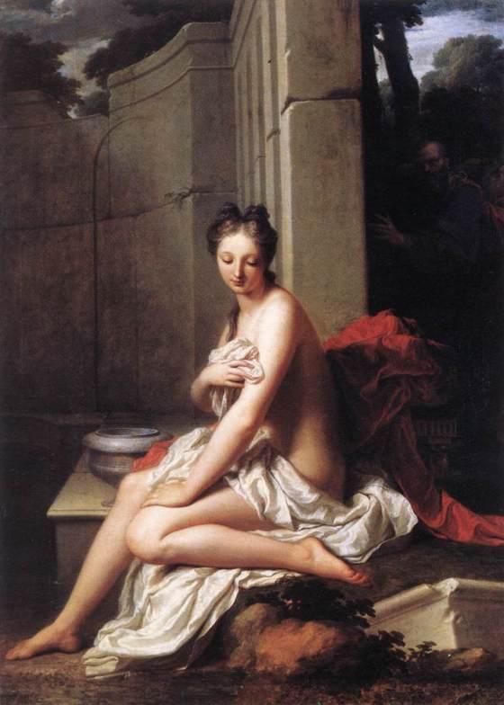 Jean-Baptiste Santerre: Suzanne au bain (1704)