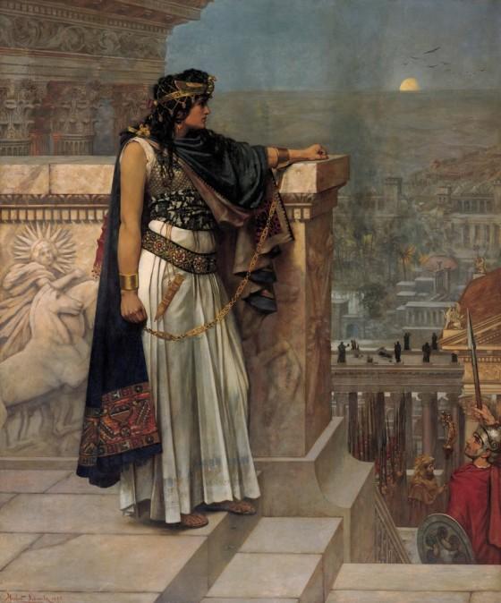 Herbert Gustave Schmalz: Zenobia's last look on Palmyra, 1888