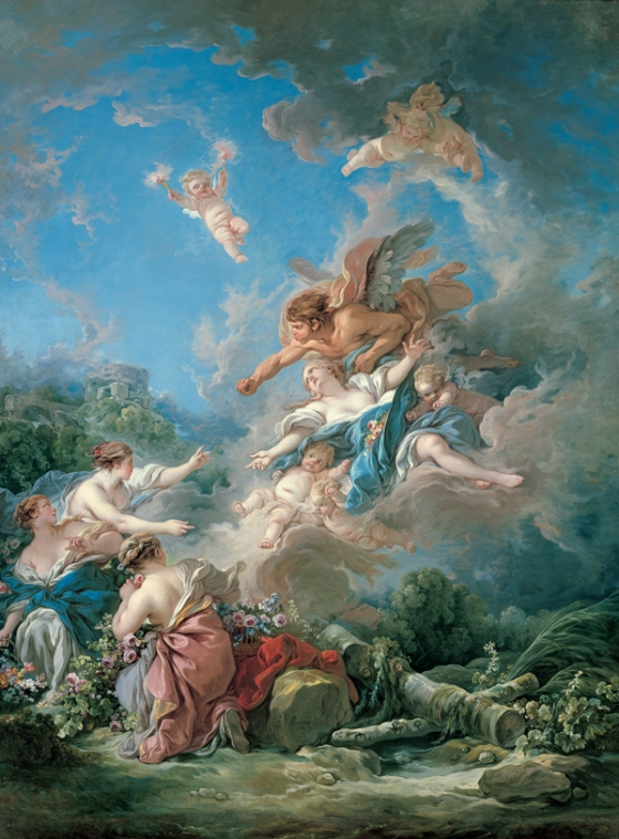 François Boucher: Boreas Abducting Oreithyia, 1769